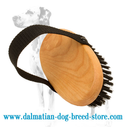 Dog grooming brush with dense bristle