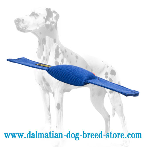 Dog bite pad for Dalmatian Schutzhund training, French linen