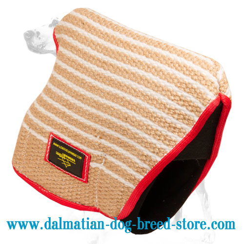 Dalmatian training bite sleeve made of Jute