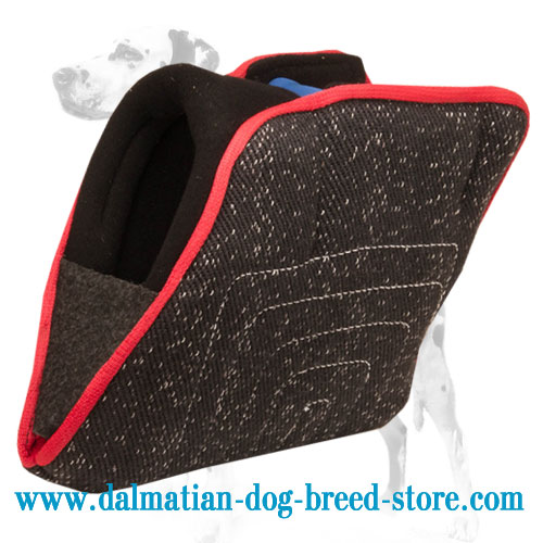Dalmatian training French linen bite builder