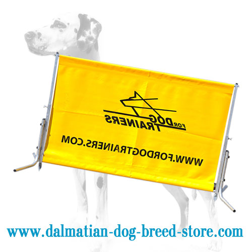 Dalmatian barrier for Schutzhund training