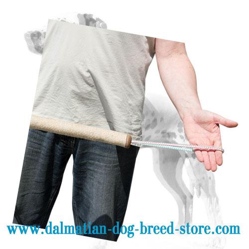Dog bite training roll, jute surface