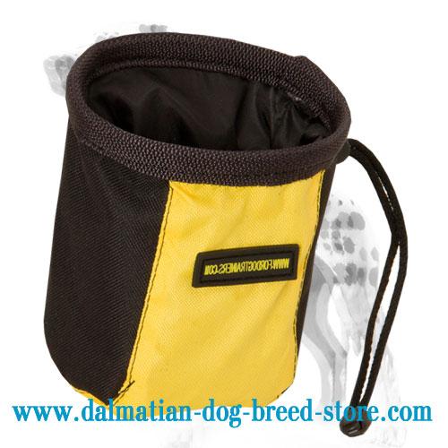 Nylon treat bag for Dalmatian training