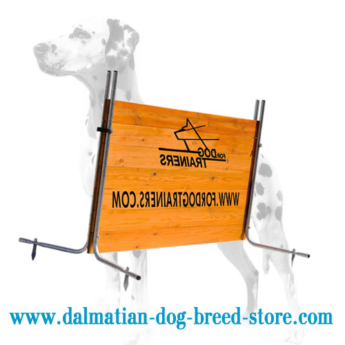 Dog wooden barrier for Dalmatian Schutzhund training