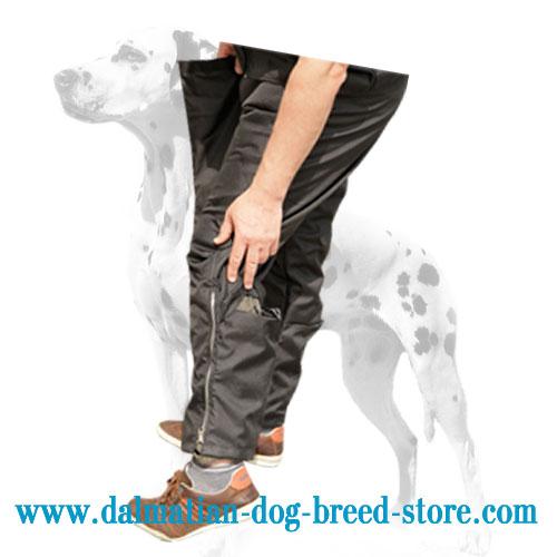 Dog training pants of strong nylon