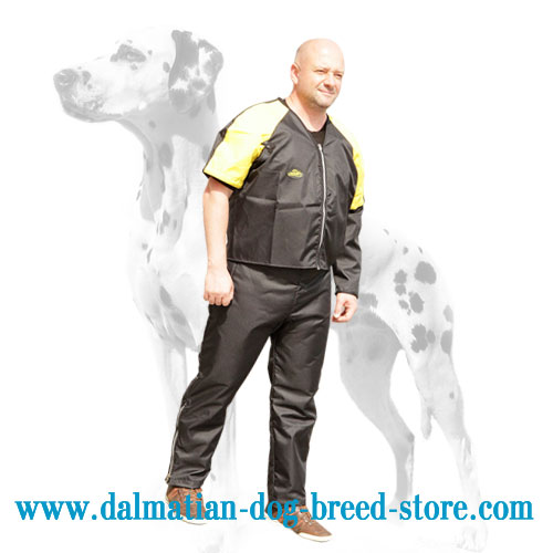Dog training scratch jacket with zippers