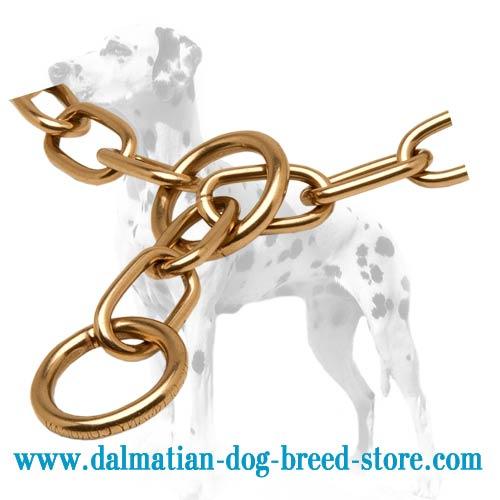 Fur-saving links of dog choke collar