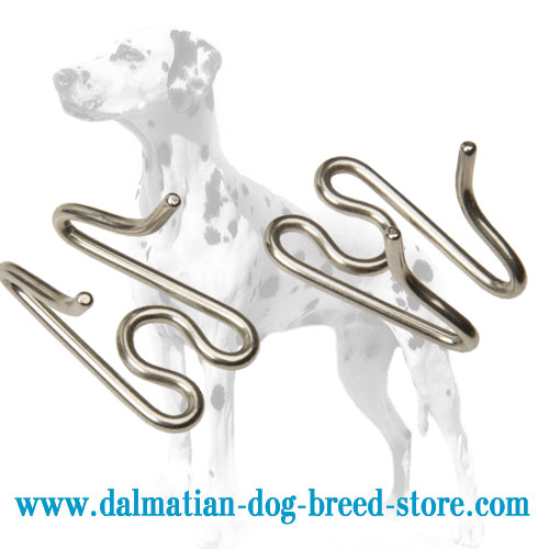 Dog prong collar's link to adjust the size