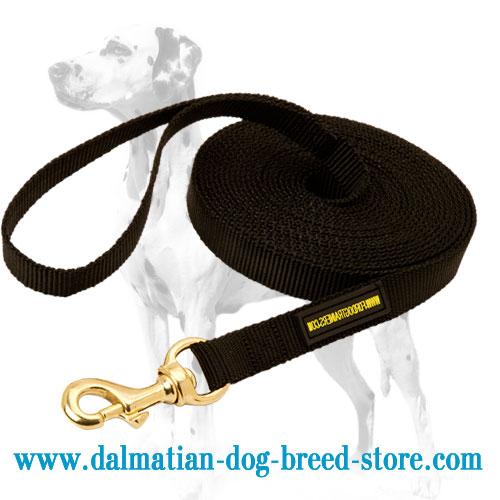 extra long Dalmatian tracking leash of nylon