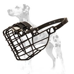 Your dog will enjoy wearing this wire muzzle