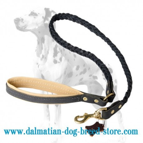 Deluxe Full-Braided Dalmatian Dog Leash