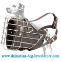Dalmatian heavy duty wire cage padded muzzle for various kinds of training