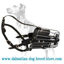 Multifunctional Wire basket Dalmatian dog muzzle