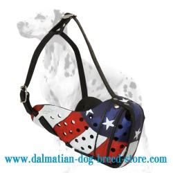 Dalmatian Painted Muzzle for Dog Training