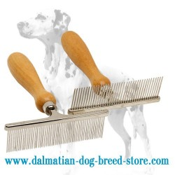 'Hair Designer' Dalmatian Dog Metal Brush