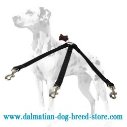 Practical Dalmatian Nylon Dog Triple Leash