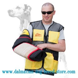 Large Dalmatian Training Sleeve of Eco-Safe Material