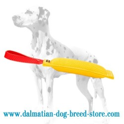 French Linen / Synthetic Dalmatian Dog Bite Tug for Bite Work