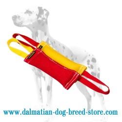 'Simple Set' 2 Dalmatian Dog Training Bite Tugs of French Linen