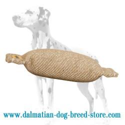 Jute Dalmatian Training Dog Bite Tug without Handles