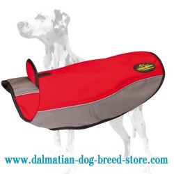 Dalmatian Warming Nylon Dog Coat for Cold Seasons
