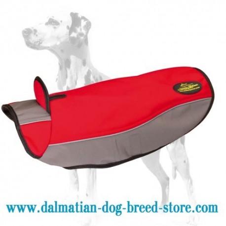 Dalmatian Warming Nylon Dog Coat for Cold Seasons