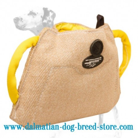 Top-Grade Dalmatian Training Dog Bite Builder of Jute Material