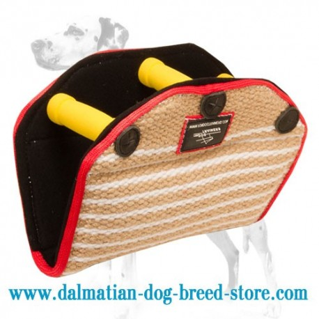 Jute-Surfaced Dalmatian Dog Bite Builder for Advanced Training