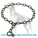 Dalmatian Dog Choke Chain Collar Made in Black